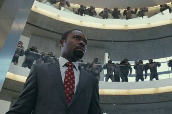 "David Oyelowo in ""Rise of the Planet of the Apes."""