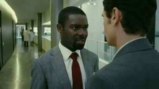 "David Oyelowo and James Franco in ""Rise of the Planet of the Apes."""