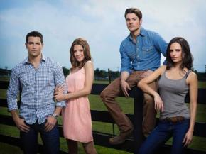 Jesse Metcalfe, Jordana Brewster, Josh Henderson and Julie Gonzalo – Kicking Back With the Ewing Young'uns
