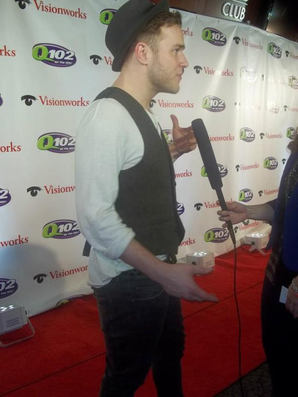 Olly Murs on the red carpet at the Q102 Jingle Ball at the Wells Fargo Center, Philadelphia, PA December 5, 2012