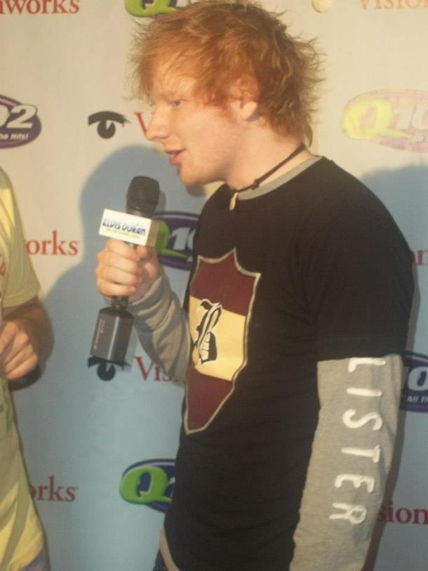 Ed Sheeran on the red carpet at the Q102 Jingle Ball at the Wells Fargo Center, Philadelphia, PA December 5, 2012
