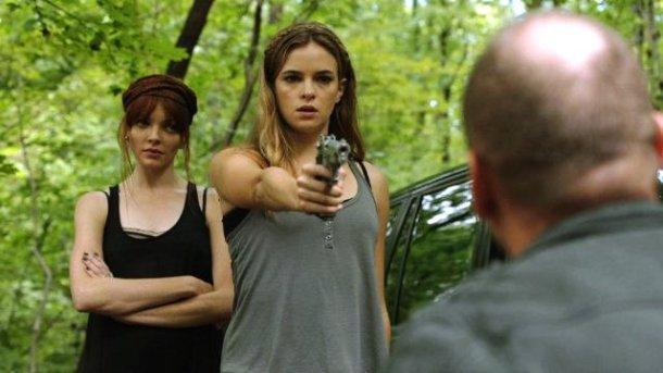 Nicole LaLiberte, Danielle Panabaker and Andrew Howard star in GIRLS AGAINST BOYS.