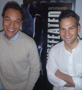 T.J. Martin and Daniel Lindsay at the New York Press Day for UNDEFEATED.