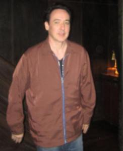 John Cusack at the New York press day for The Raven at the Vault at Pfaff's in Greenwich Village.