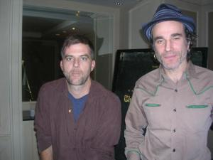 """Daniel Day Lewis and Paul Michael Anderson at the NY press day for """"There Will Be Blood."""""""