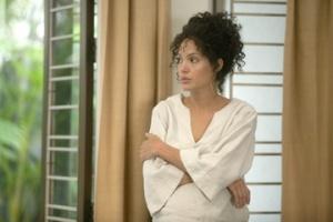 "Angelina Jolie stars in ""A Mighty Heart."""