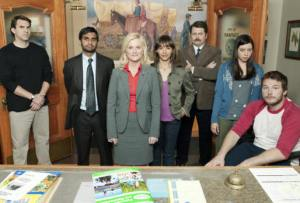 The cast of PARKS and RECREATION.