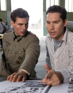 """Tom Cruise and Bryan Singer filming """"Valkyrie."""""""