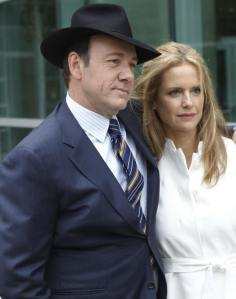 "Kevin Spacey and Kelly Preston in ""Casino Jack."""