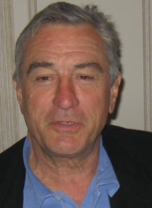 """Robert De Niro at the New York press conference for """"Everybody's Fine."""""""