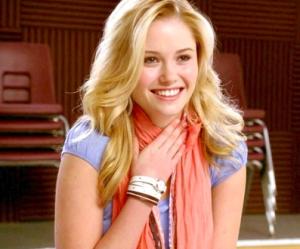"Ginny Gardner stars in ""Glee."""
