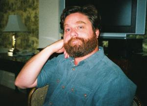Zach Galifianakis at the New York press day for