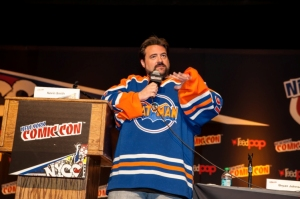 Kevin Smith at New York Comic-Con 2013 at Jacob Javits Center, Manhattan.  Picture copyright 2013 by Mark Doyle.