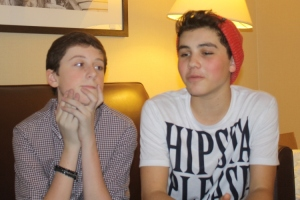 Trevor Moran and Sam Pottorff at the Philadelphia Sheraton - Reality Dance Fall Fan Fest 2013.