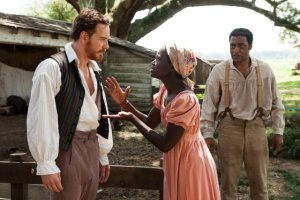 "Michael Fassbender, Lupita Nyong'o and Chiwetel Ejiofor star in ""12 Years a Slave."""
