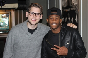 Tony Oller and Michael D. Kelley of MKTO backstage at The Tower Theater in Upper Darby, PA on February 21, 2014.