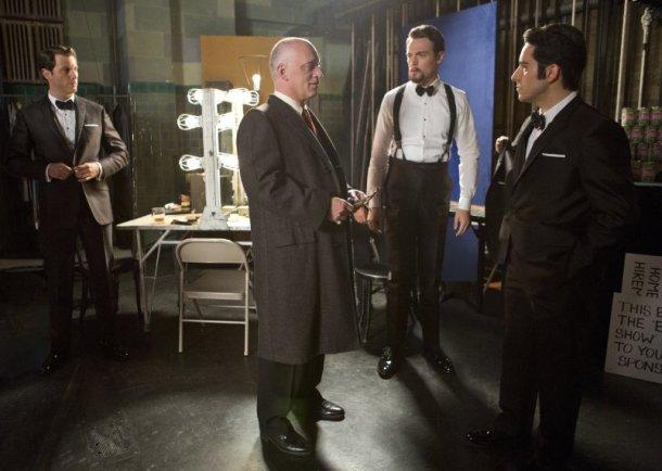 "Donnie Kehr, John Lloyd Young, Erich Bergen and Michael Lomenda in ""Jersey Boys."""