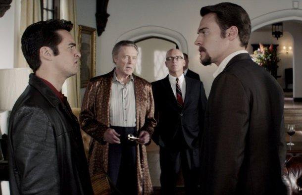 """Christopher Walken, Donnie Kehr, Vincent Piazza and Erich Bergen in """"Jersey Boys."""""""