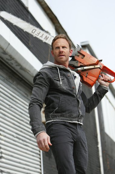 "Ian Ziering stars in ""Sharknado 2: The Second One."""