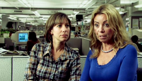 """Wendy Ruderman and Barbara Laker in """"Black & White and Dead All Over."""""""