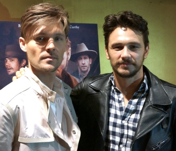 """Scott Haze and James Franco at the New York Press Day for """"Child of God.""""  Photo copyright 2014 Brad Balfour."""