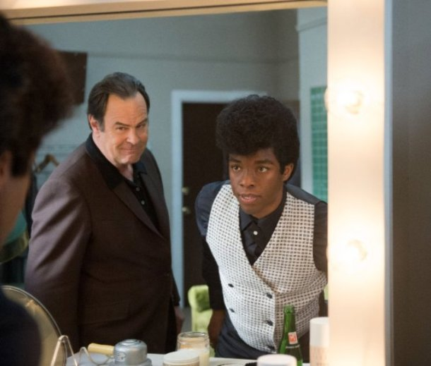 "Dan Aykroyd and Chadwick Boseman star in ""Get On Up."""