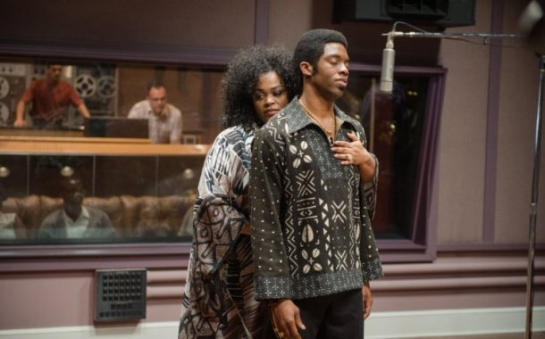 "Jill Scott and Chadwick Boseman star in ""Get On Up."""