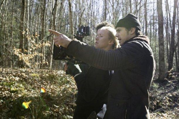 "James Franco directing ""Child of God."""