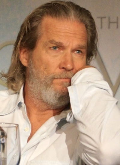 """Jeff Bridges at the New York press conference for """"The Giver.""""  Photo copyright 2014 Brad Balfour."""