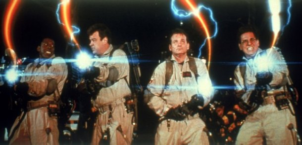 Ernie Hudson, Dan Aykroyd, Bill Murray and Harold Ramis in 'Ghostbusters.'