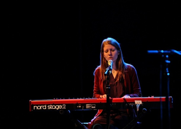 Marketa Irglova in concert at World Cafe Live in Philadelphia.  Photo copyright 2014 Jim Rinaldi.