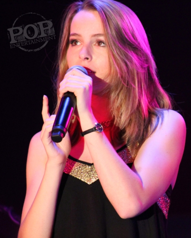 Bridgit Mendler performing at iPlay America in Freehold, NJ.  Photo copyright 2014 Maggie Mitchell.