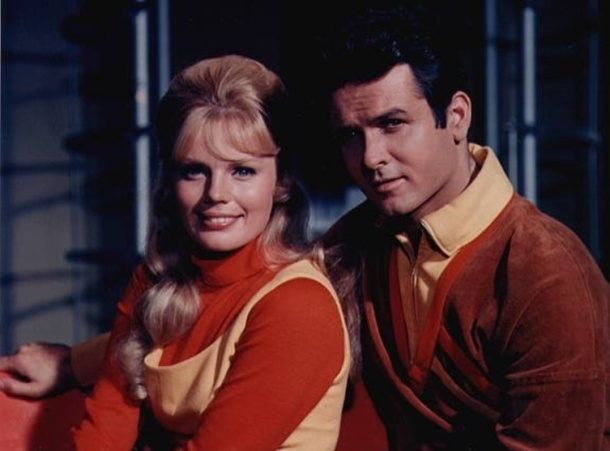 "Marta Kristen and Mark Goddard starred in ""Lost in Space."""
