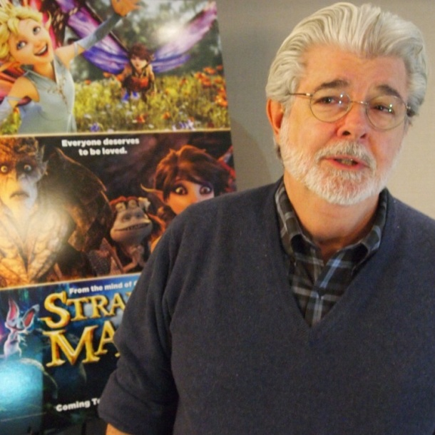 "George Lucas at the New York Press day for ""Strange Magic"" at the Loews Regency Hotel, New York.  Photo ©2015 Brad Balfour. All rights reserved."