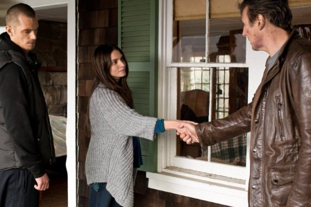 Joel Kinnaman, Genesis Rodriguez and Liam Neeson in Run All Night
