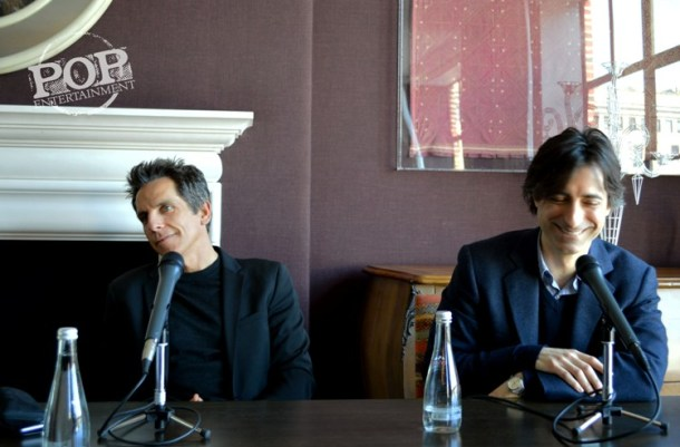 """Ben Stiller & Noah Baumbach at the NY Press Day for """"While We're Young."""""""