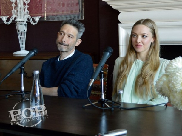 """Adam Horovitz & Amanda Seyfried at the NY Press Day for """"While We're Young."""""""