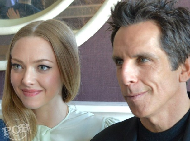 """Amanda Seyfried & Ben Stiller at the NY Press Day for """"While We're Young."""""""