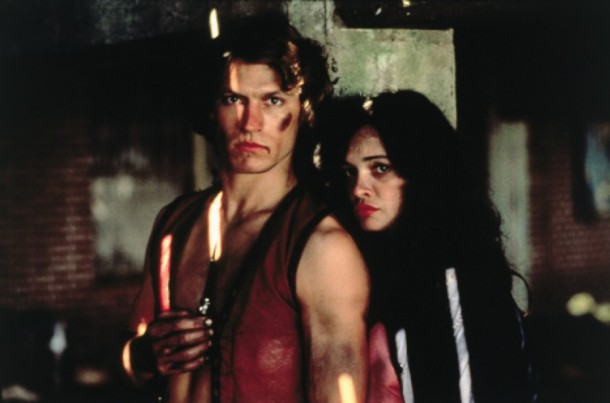 Michael Beck and Deborah Van Valkenburgh in
