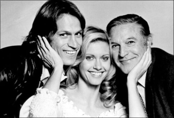 Michael Beck, Olivia Newton-John and Gene Kelly in