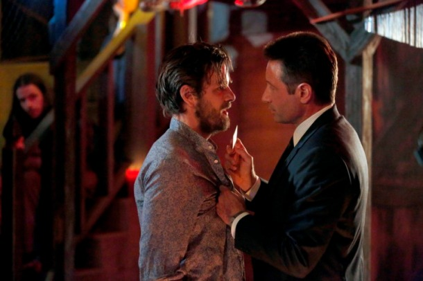 Gethin Anthony and David Duchovny in AQUARIUS.