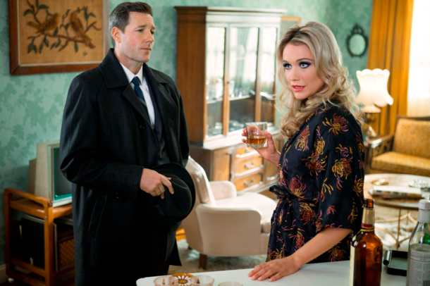 "Edward Burns and Katrina Bowden star in TNT's new series ""Public Morals."""