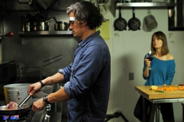 "Orlando Bloom and Rosemarie DeWitt star in ""Digging for Fire."""