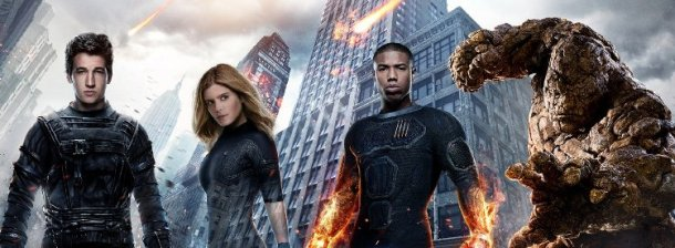 Miles Teller, Kate Mara, Michael B. Jordan and Jamie Bell in Fantastic Four.