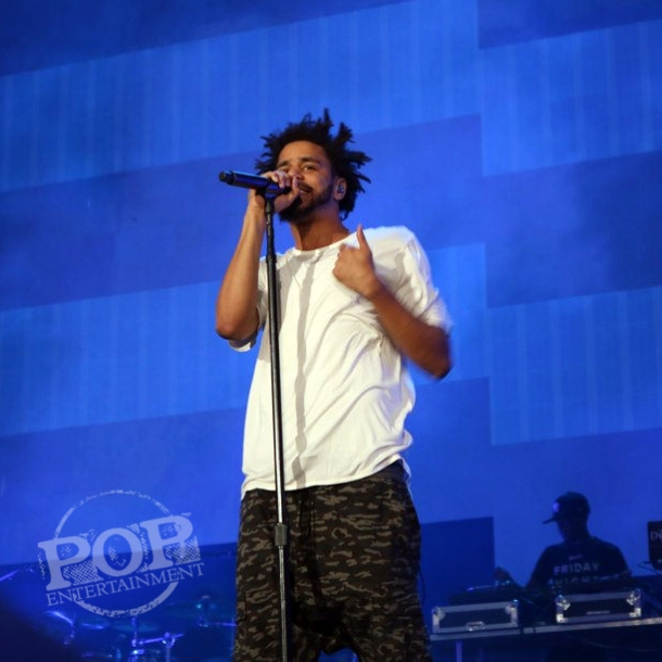 J. Cole at Made in America Festival on the Benjamin Franklin Parkway in Philadelphia, PA September 5 & 6, 2015.  Photo copyright ©2015  Shana Bergmann.