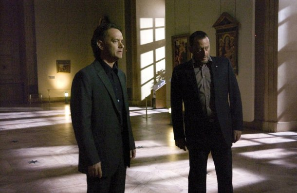 "Tom Hanks and Jean Reno in ""The Da Vinci Code."""