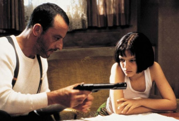 "Jean Reno and Natalie Portman in ""Leon: The Professional."""