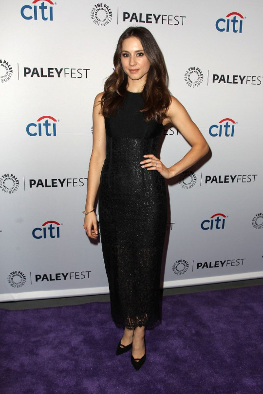Troian Bellisario at The Paley Center for Media's 3rd annual PaleyFest NY held a special event with the cast and creative team of ABC Family's Pretty Little Liars at The Paley Center for Media in New York City on October 11, 2015.