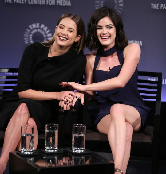 """New York, NY -  - 10/11/15 - PaleyFest NY Presents - """"PRETTY LITTLE LIARS"""". The panel was attended by Lucy Hale, Ashley Benson, Troian Bellisario, Sasha Pieterse, I. Marlene King, Oliver Goldstick, Joe Dougherty, and moderated by Andy Swift, Senior Entertainment Editor of TVLine.com."""