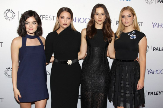 Lucy Hale, Ashley Benson, Troian Bellisario and Sasha Pieterse at The Paley Center for Media's 3rd annual PaleyFest NY held a special event with the cast and creative team of ABC Family's Pretty Little Liars at The Paley Center for Media in New York City on October 11, 2015.